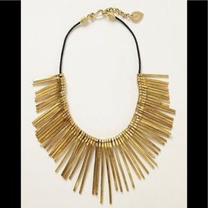 Anthropologie Root Needle Necklace